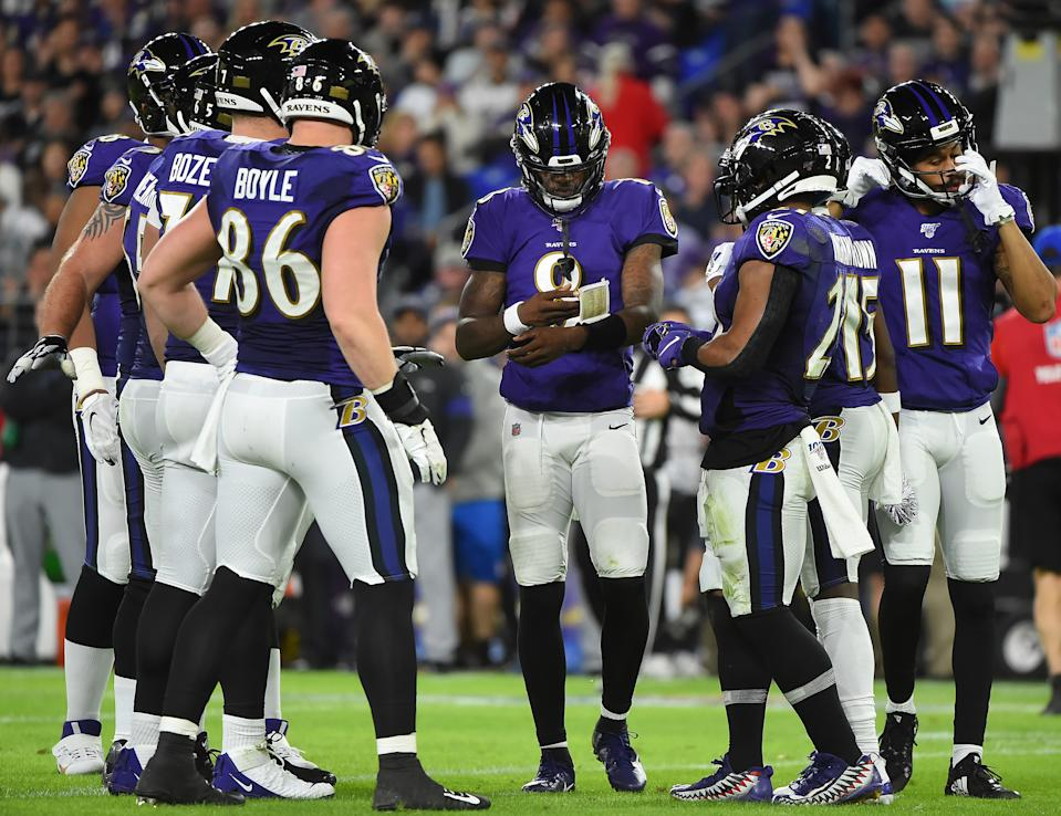 Lamar Jackson and fellow Ravens players lent their voices to a powerful video on racism. (Photo by Will Newton/Getty Images)