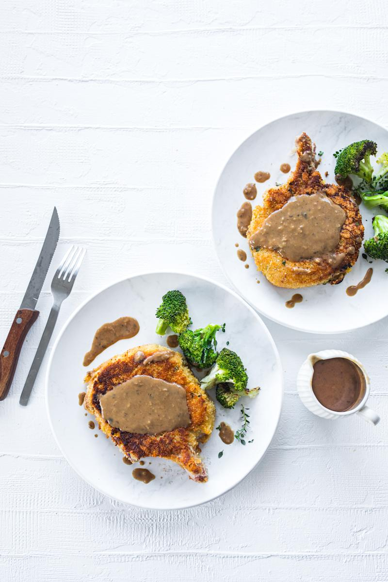 Manu Feildel's pork cutlets for Father's Day. Photo: supplied.