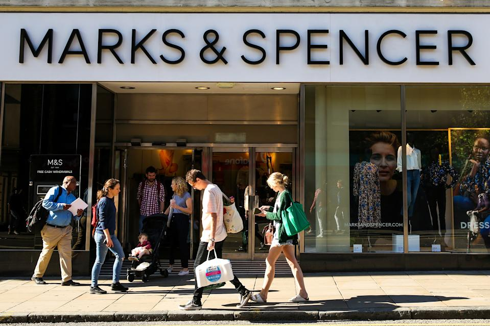 LONDON, UNITED KINGDOM - 2019/09/21: An exterior view of Marks and Spencer in central London. (Photo by Dinendra Haria/SOPA Images/LightRocket via Getty Images)