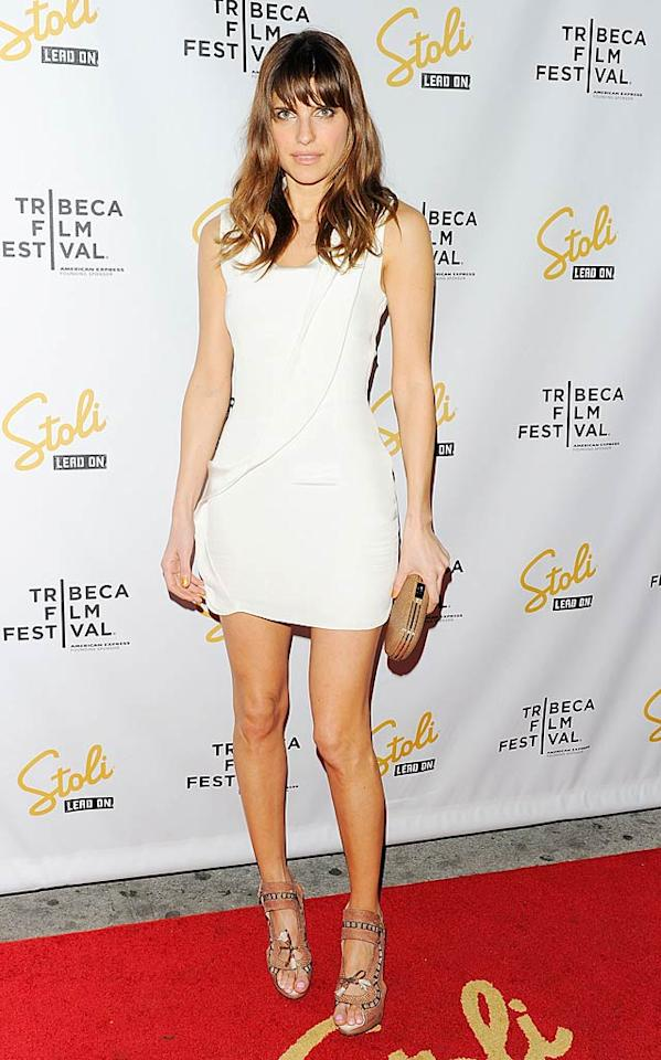 "Last but not least ... Lake Bell (""No Strings Attached""), who rocked the red carpet at the Tribeca Film Festival in a futuristic Cushnie et Ochs Spring 2011 frock and fierce Nicholas Kirkwood heels.   Follow 2 Hot 2 Handle creator, <a href=""http://bit.ly/lifeontheMlist"" target=""new"">Matt Whitfield</a>, on Twitter! Andrew H. Walker/<a href=""http://www.gettyimages.com/"" target=""new"">GettyImages.com</a> - April 29, 2011"