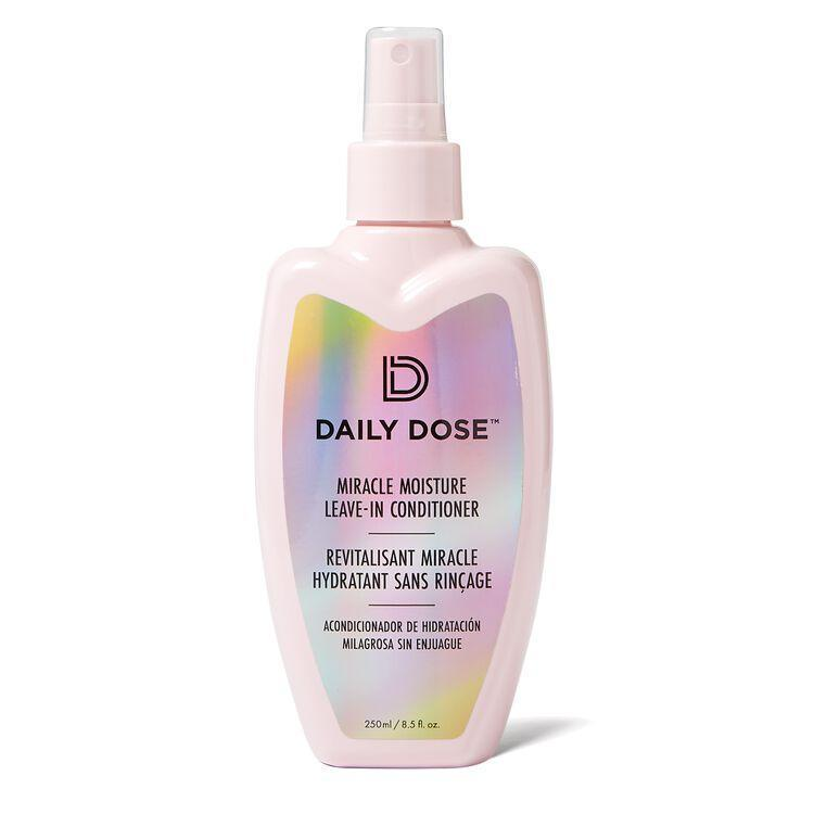 """Like we said, if you play your prep right, you won't have to worry about avoiding high temperatures and salty waves. Load up on moisture beforehand and the sun won't stand a chance at drying out your style. """"Apply a <a href=""""https://www.allure.com/gallery/best-leave-in-hair-conditioners?mbid=synd_yahoo_rss"""" rel=""""nofollow noopener"""" target=""""_blank"""" data-ylk=""""slk:leave-in conditioner"""" class=""""link rapid-noclick-resp"""">leave-in conditioner</a> generously like the Daily Dose Miracle Moisture Spray Leave-In Conditioner, which helps to repair and strengthen the shaft,"""" says Taylor. Moisturizing <a href=""""https://www.allure.com/story/aloe-vera-benefits-skin-hair?mbid=synd_yahoo_rss"""" rel=""""nofollow noopener"""" target=""""_blank"""" data-ylk=""""slk:aloe"""" class=""""link rapid-noclick-resp"""">aloe</a> is the star ingredient in this formula that keeps hair well-hydrated. Apply a fresh layer of the treatment once you're beached out and your hair has been rinsed at home."""