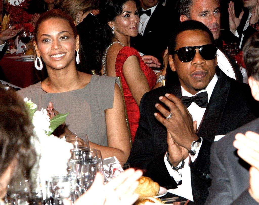 """Jay-Z was finally spotted wearing his wedding band at the New Yorkers for Children's Ninth Annual Fall Gala in New York City. The hip-hop superstar and Beyonce have still not publicly announced that they are married. Johnny Nunez/<a href=""""http://www.wireimage.com"""" target=""""new"""">WireImage.com</a> - September 16, 2008"""