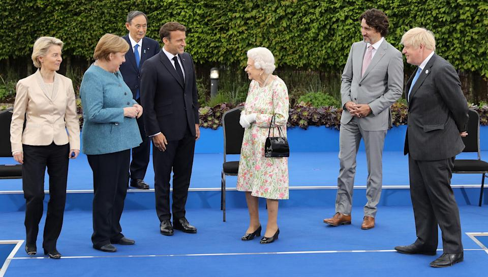 The Queen to meet Angela Merkel just days after England defeat Germany in Euro 2020 (POOL/AFP via Getty Images)