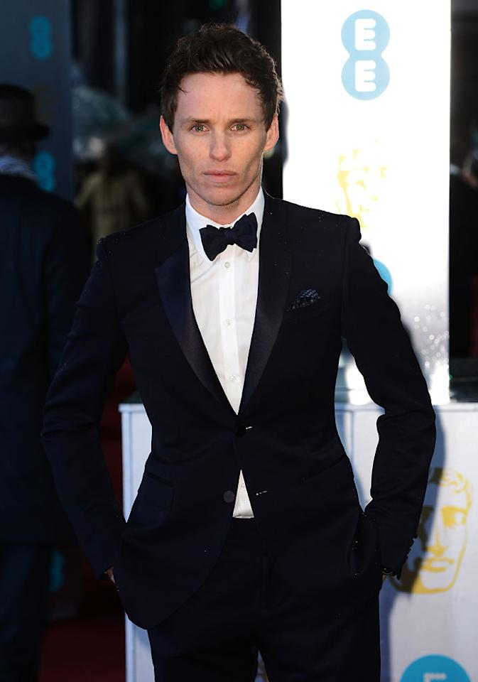Eddie Redmayne attends the EE British Academy Film Awards at The Royal Opera House on February 10, 2013 in London, England.  (Photo by Ian Gavan/Getty Images)