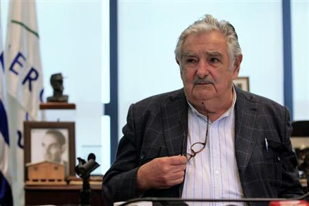 UUruguay's President Mujica holds a news conference in Montevideo