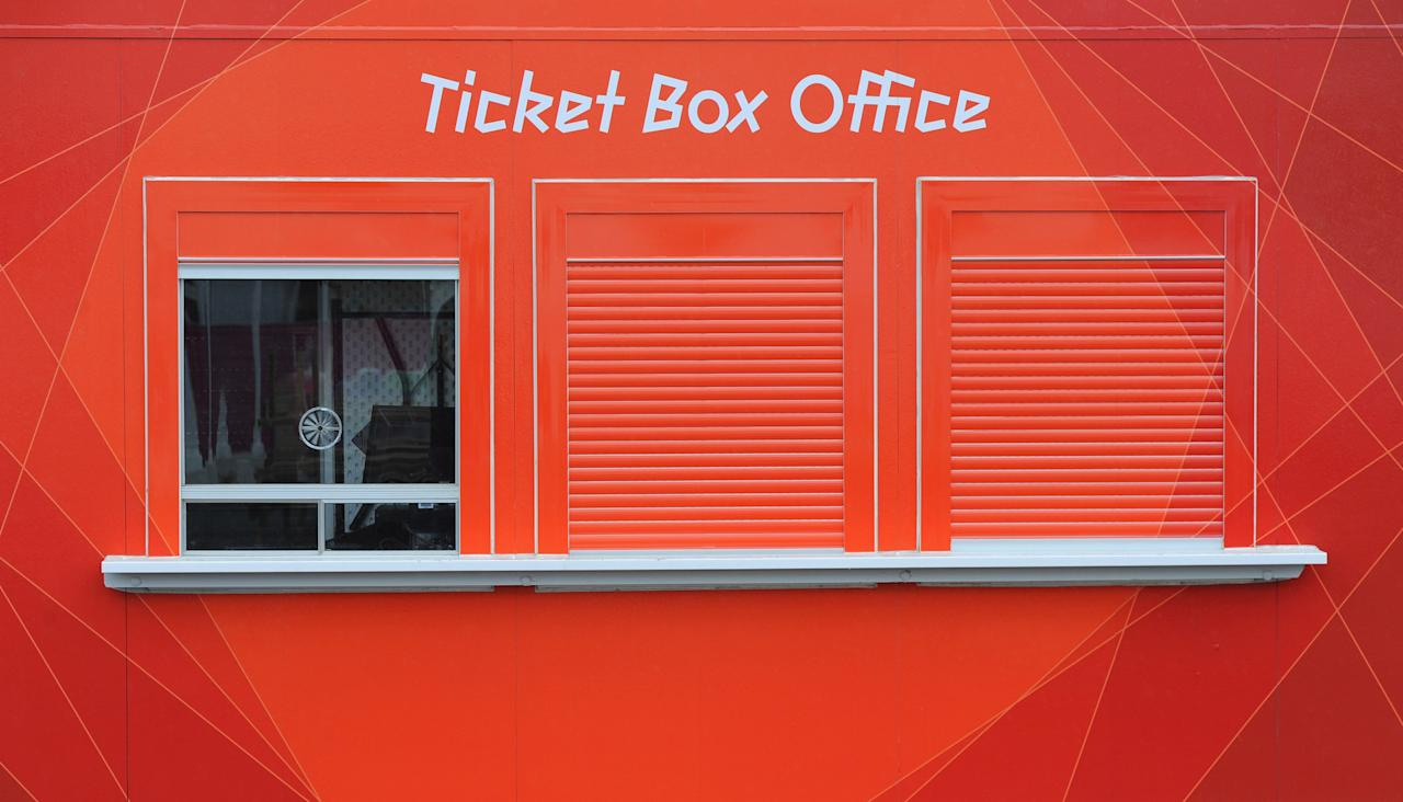 LONDON, ENGLAND - JULY 18: An Olympic ticket box office at Olympic Park on July 18, 2012 in London, England.  (Photo by Michael Regan/Getty Images)