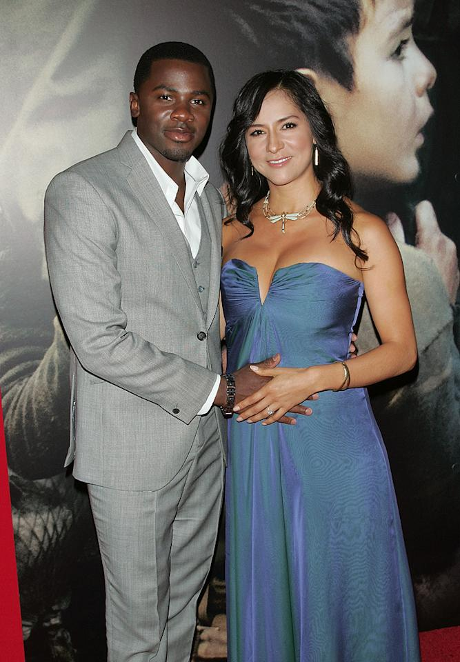 """<a href=""""http://movies.yahoo.com/movie/contributor/1804502220"""">Derek Luke</a> and guest at the New York City premiere of <a href=""""http://movies.yahoo.com/movie/1809947151/info"""">Miracle at St. Anna</a> - 09/22/2008"""