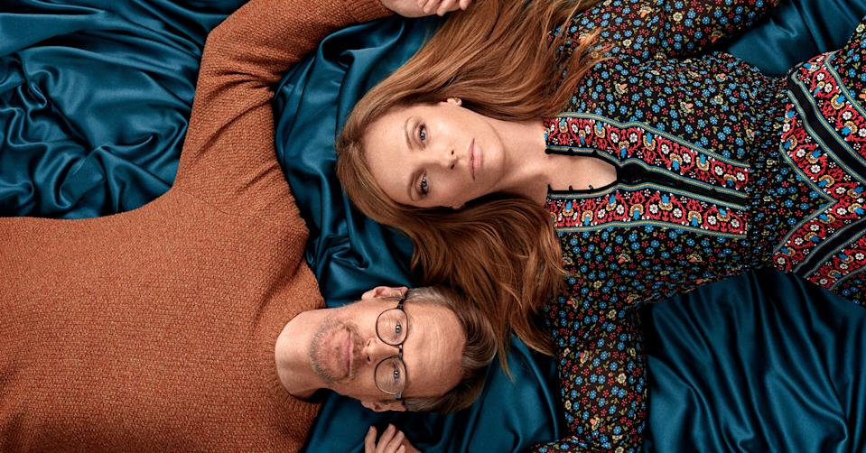 Toni Collette and Steven Mackintosh in BBC's 'Wanderlust' (BBC Pictures)