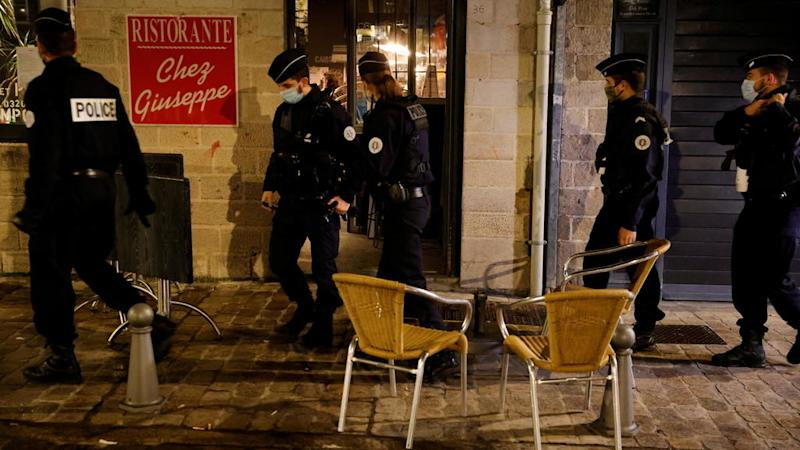 French cities under Covid-19 curfew as country posts record number of new cases