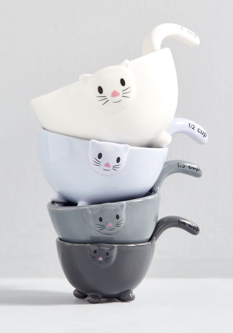 <p>If your BFF loves to cook up a storm in the kitchen, they'll appreciate the <span>Meow for Measuring Cups</span> ($35). Not only will they get so much use out of them but they're also too cute not to display.</p>