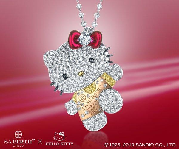 The jewellery consists of Hello Kitty pendants