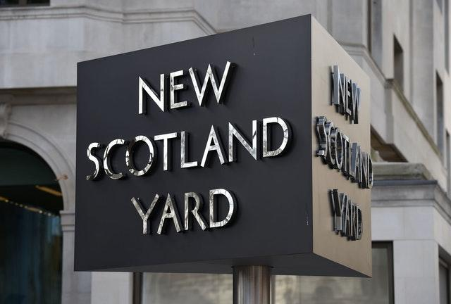 A New Scotland Yard sign (Kirsty O'Connor/PA)