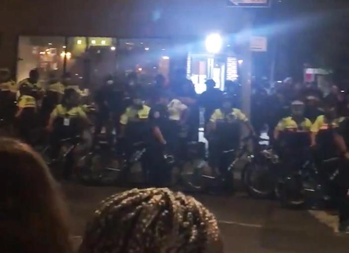 IMAGE: Police in New York (Molly Dillon via Twitter)