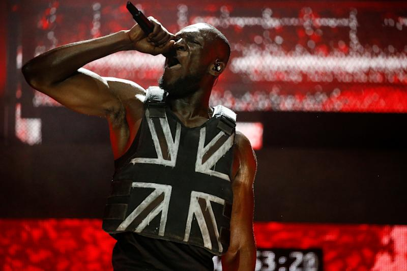 British rapper Stormzy performs the headline slot on the Pyramid stage during Glastonbury Festival in Somerset, Britain, June 28, 2019. REUTERS/Henry Nicholls
