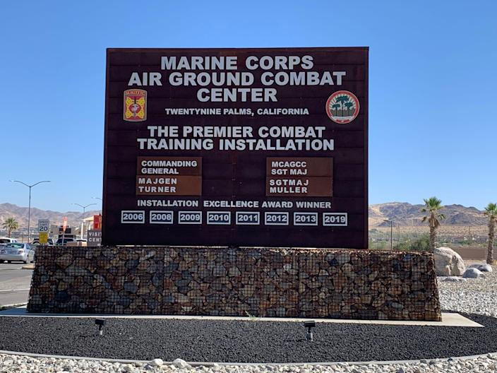 """A suspect was """"cordoned off"""" at the Marine Corps Air Ground Combat Center at Twentynine Palms, Calif., after reports of an active shooter on the base, according to Capt. Nicole Plymale on July 7."""