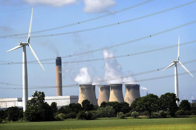 The UK's biggest power plant Drax was the country's biggest consumer of coal a decade ago but has been switching to compressed wood pellets. (PA)