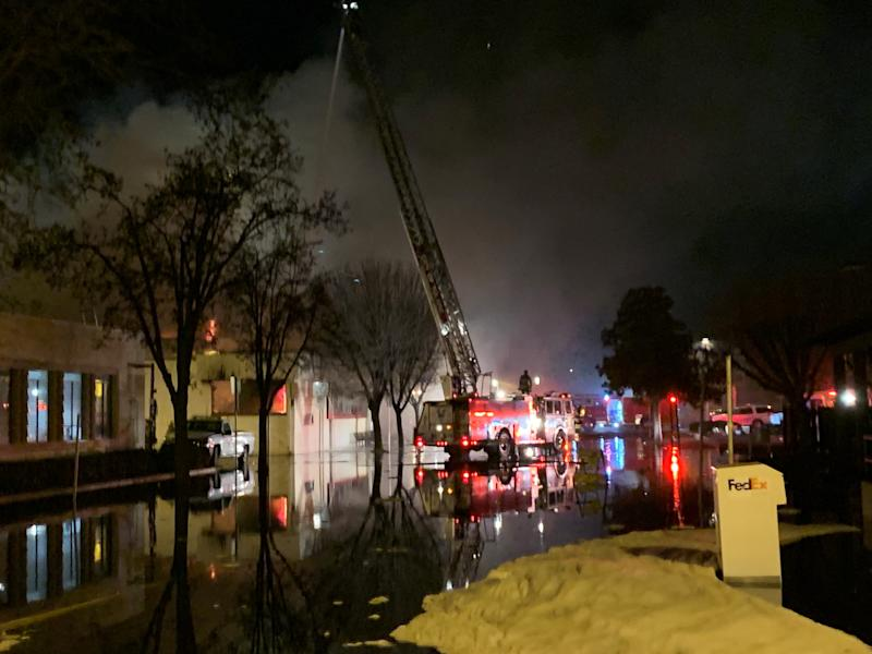 Porterville Library caught fire on Tuesday, February 18, 2020.