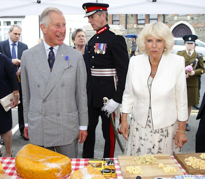 """<p>All these photos? They're from royally arranged and sanctioned events, making all of this public eating kosher. But if anyone tries to hand Meghan, say, a congratulatory cake while she's walking <em>into </em>one of the events, she's not gonna <a href=""""https://doyouremember.com/55808/royal-etiquette-40-strict-rules-royal-family-follow/5"""" rel=""""nofollow noopener"""" target=""""_blank"""" data-ylk=""""slk:eat"""" class=""""link rapid-noclick-resp"""">eat</a> that. </p>"""
