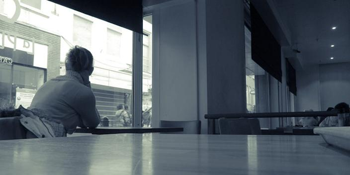 lonely woman alone sad isolated lone depress