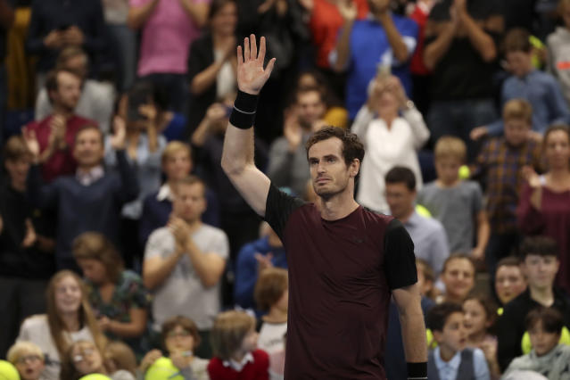 Andy Murray defeated Stan Wawrinka on Sunday to win the European Open. (AP Photo/Francisco Seco)