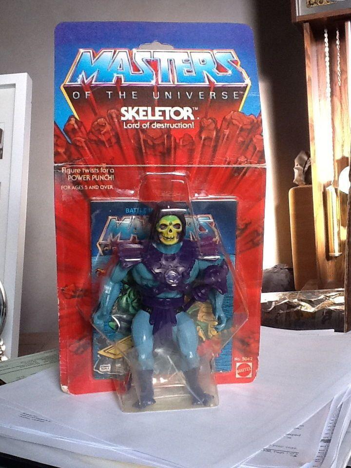 """<p>He-Man's evil nemesis <a href=""""https://go.redirectingat.com?id=74968X1596630&url=http%3A%2F%2Fwww.ebay.com%2Fitm%2FSKELETOR-8-BACK-MOC-HE-MAN-MASTERS-OF-THE-UNIVERSE-MOTU-ETERNIA-HALF-BOOTS-1981-%2F160858795857%3Fhash%3Ditem2573ee6f51%253Am%253Amv2VXRJZs7OCRTh_J7PzWuA&sref=https%3A%2F%2Fwww.countryliving.com%2Fshopping%2Fantiques%2Fg3141%2Fmost-valuable-toys-from-childhood%2F"""" rel=""""nofollow noopener"""" target=""""_blank"""" data-ylk=""""slk:Skeletor"""" class=""""link rapid-noclick-resp"""">Skeletor</a> is the most popular action figure from the Masters of the Universe World. Fans are willing to pay upwards of $1,500 for an in-box, mint condition 1982 original of this skulled villain. </p>"""