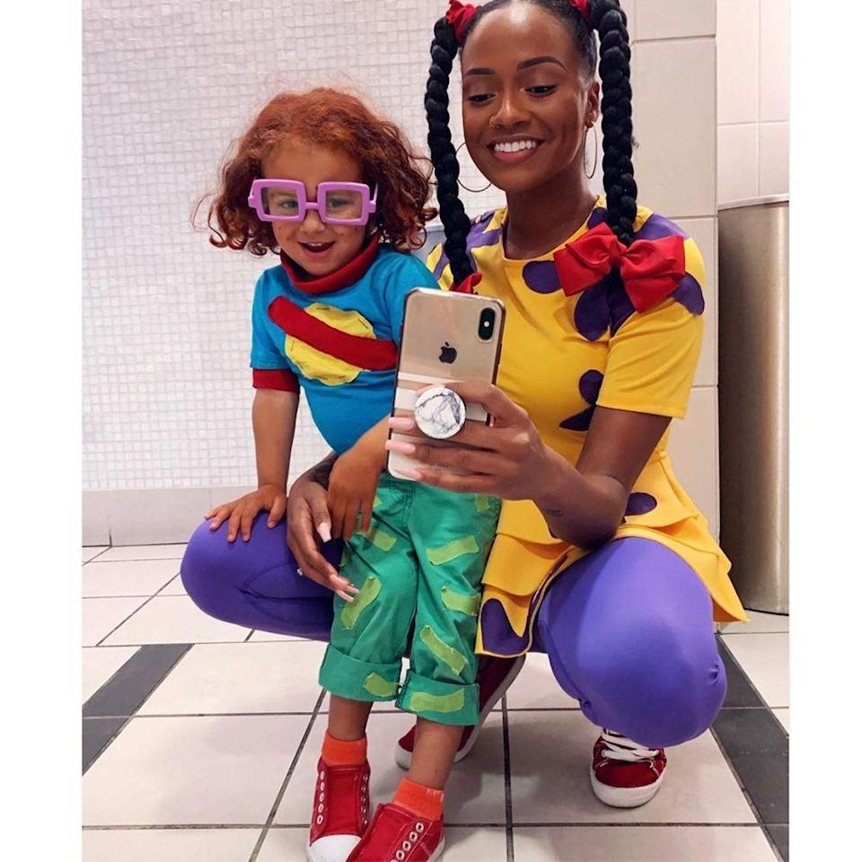 """<p>Susie Carmichael and Chuckie Finster are arguably the most lovable characters from the classic show <em>Rugrats</em>. With a resurgence of the '90s popping up everywhere, this is perfect classic costume.</p><p>Susie's top is a fun DIY project and can be paired with purple leggings to really nail the look.</p><p><strong>Instagram:</strong> <a href=""""https://www.instagram.com/p/B4TPb0QFpk-/"""" rel=""""nofollow noopener"""" target=""""_blank"""" data-ylk=""""slk:@monatalisa"""" class=""""link rapid-noclick-resp"""">@monatalisa</a></p><p><a class=""""link rapid-noclick-resp"""" href=""""https://www.amazon.com/dp/B07MNTXQ1H?_encoding=UTF8&customId=B07HPZ61SZ&th=1&psc=1&tag=syn-yahoo-20&ascsubtag=%5Bartid%7C2089.g.22530616%5Bsrc%7Cyahoo-us"""" rel=""""nofollow noopener"""" target=""""_blank"""" data-ylk=""""slk:SHOP THE LOOKS"""">SHOP THE LOOKS</a></p>"""