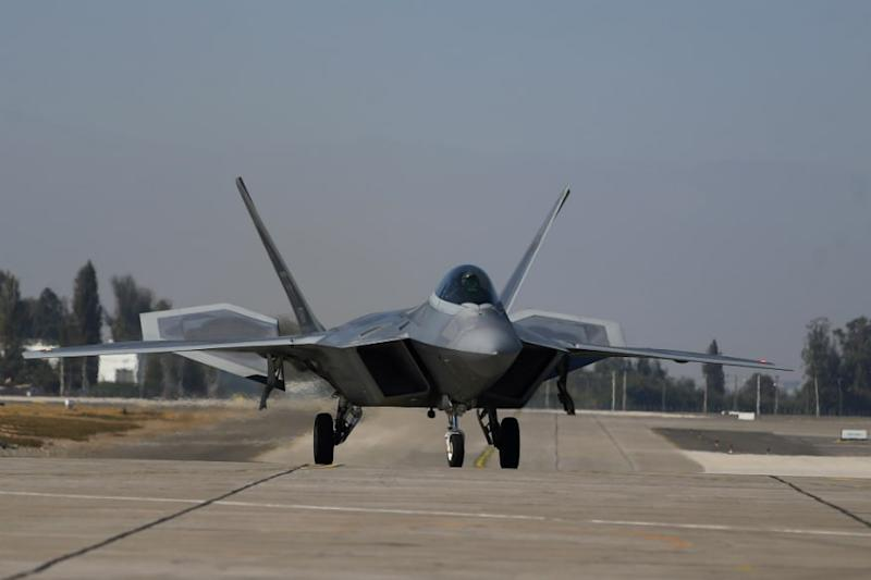 US Air Force F-22 fighter jet. (Image source: Reuters)