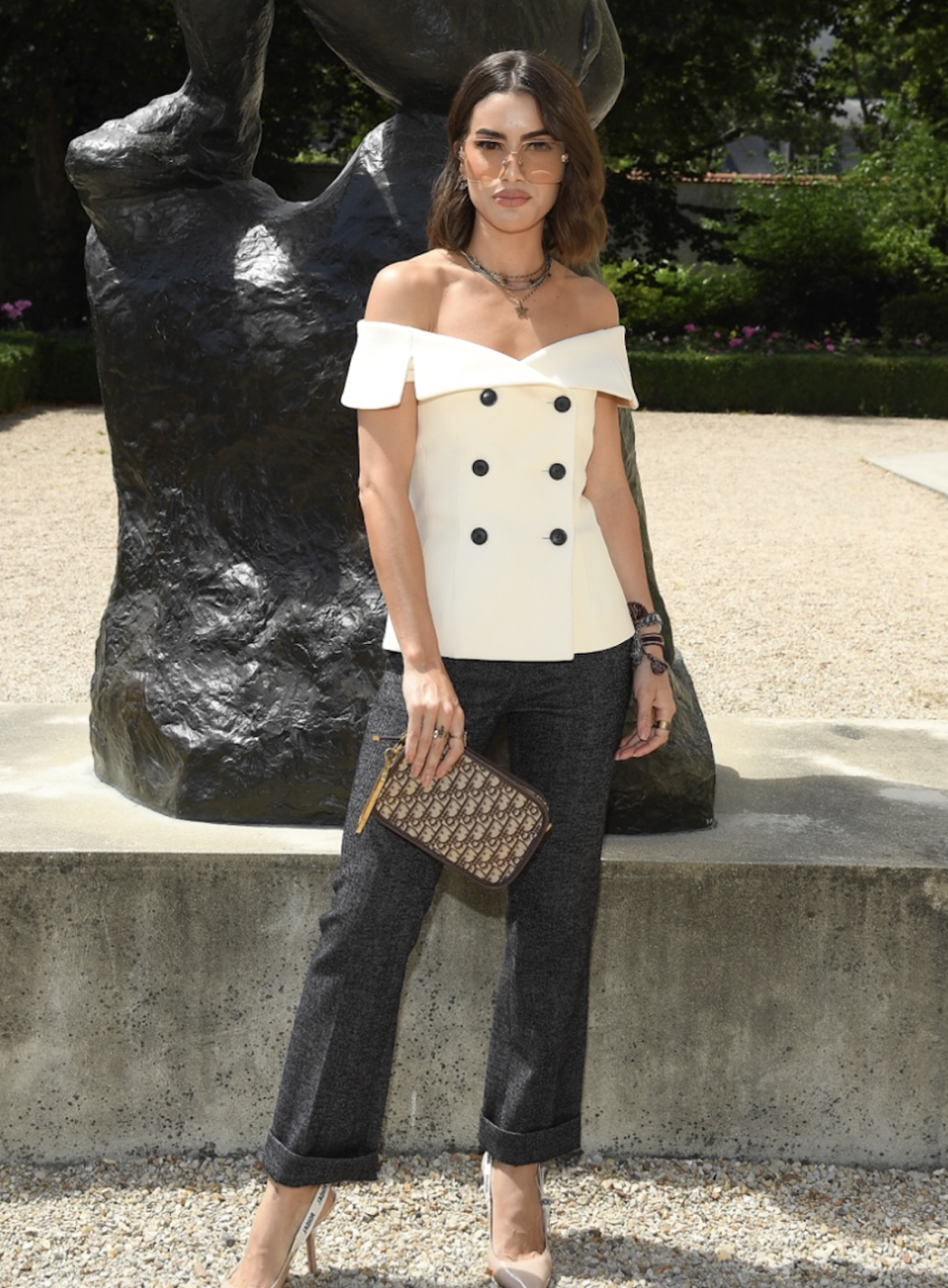 """<p>""""Arrived at the show, excited to see what Maria Grazia Chiuri up her sleeve for this collection!""""</p>"""
