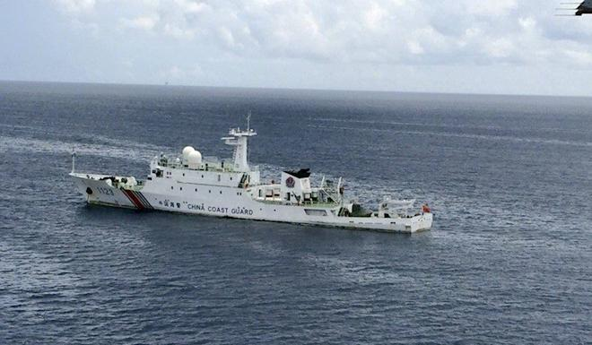 In May, Beijing sent a coastguard vessel to the Luconia Shoals to disrupt the operations of a Malaysian drilling rig. Photo: Handout