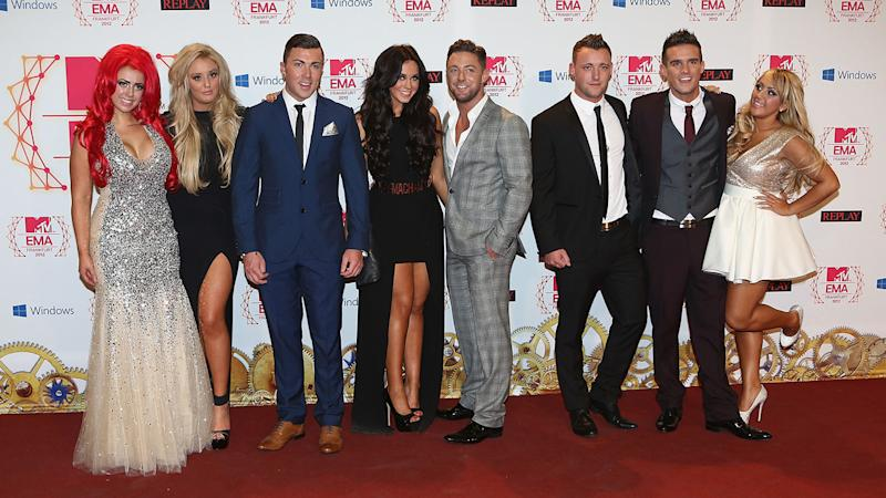 Vicky Pattison, centre, with the cast of Geordie Shore at the MTV Awards in 2012