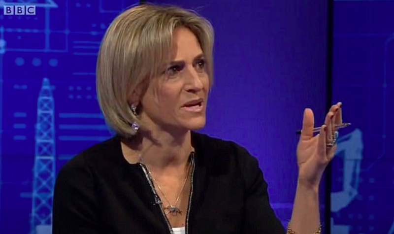 Newsnight lead presenter Emily Maitlis responded to Lord Hall's comments by warning against scripted interviews (BBC)
