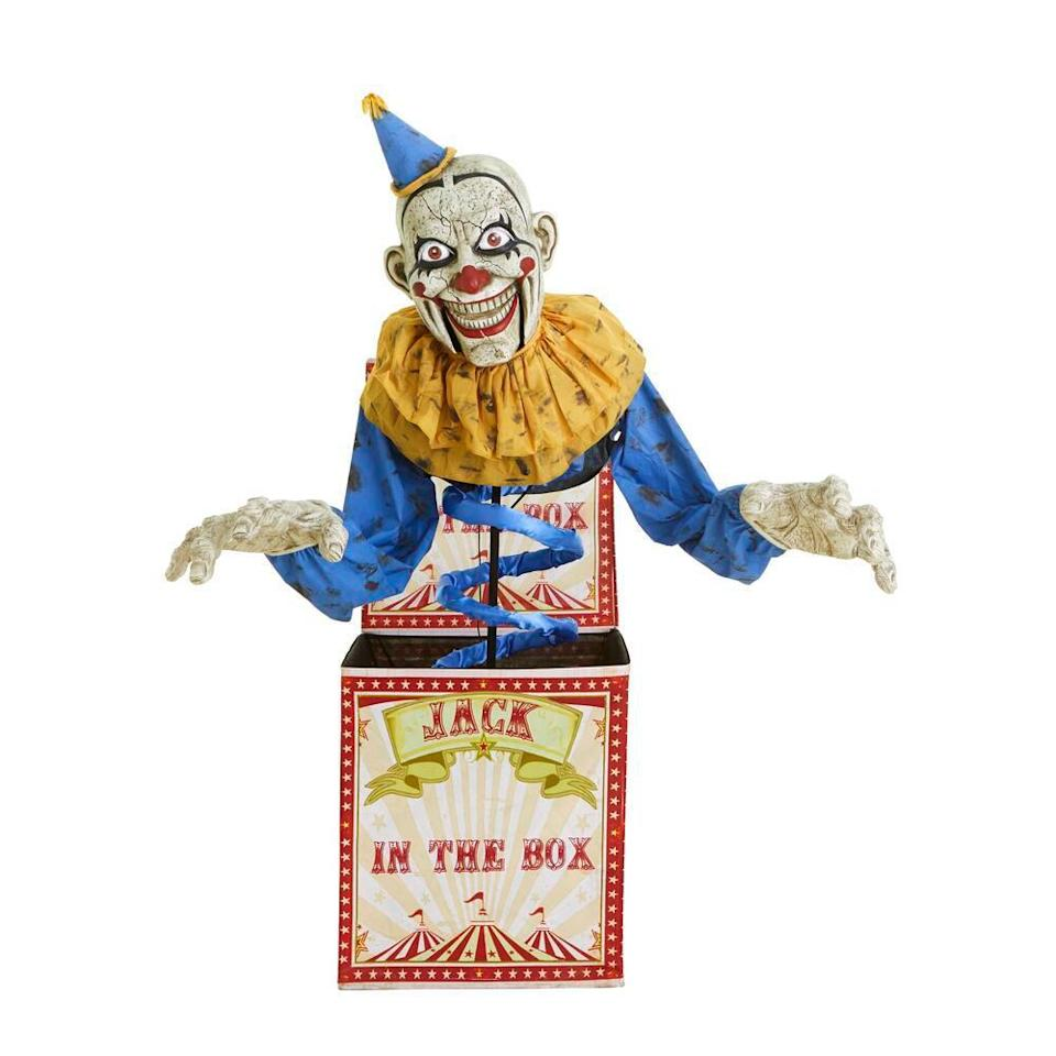 animated halloween jack-in-the-box, scary halloween decorations