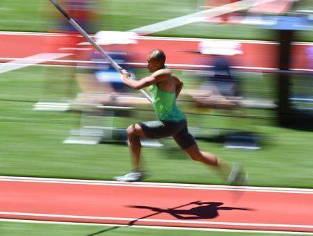 Jul 3, 2016; Eugene, OR, USA; Ashton Eaton competes during the decathlon pole vault in the 2016 U.S. Olympic track and field team trials at Hayward Field. James Lang-USA TODAY Sports