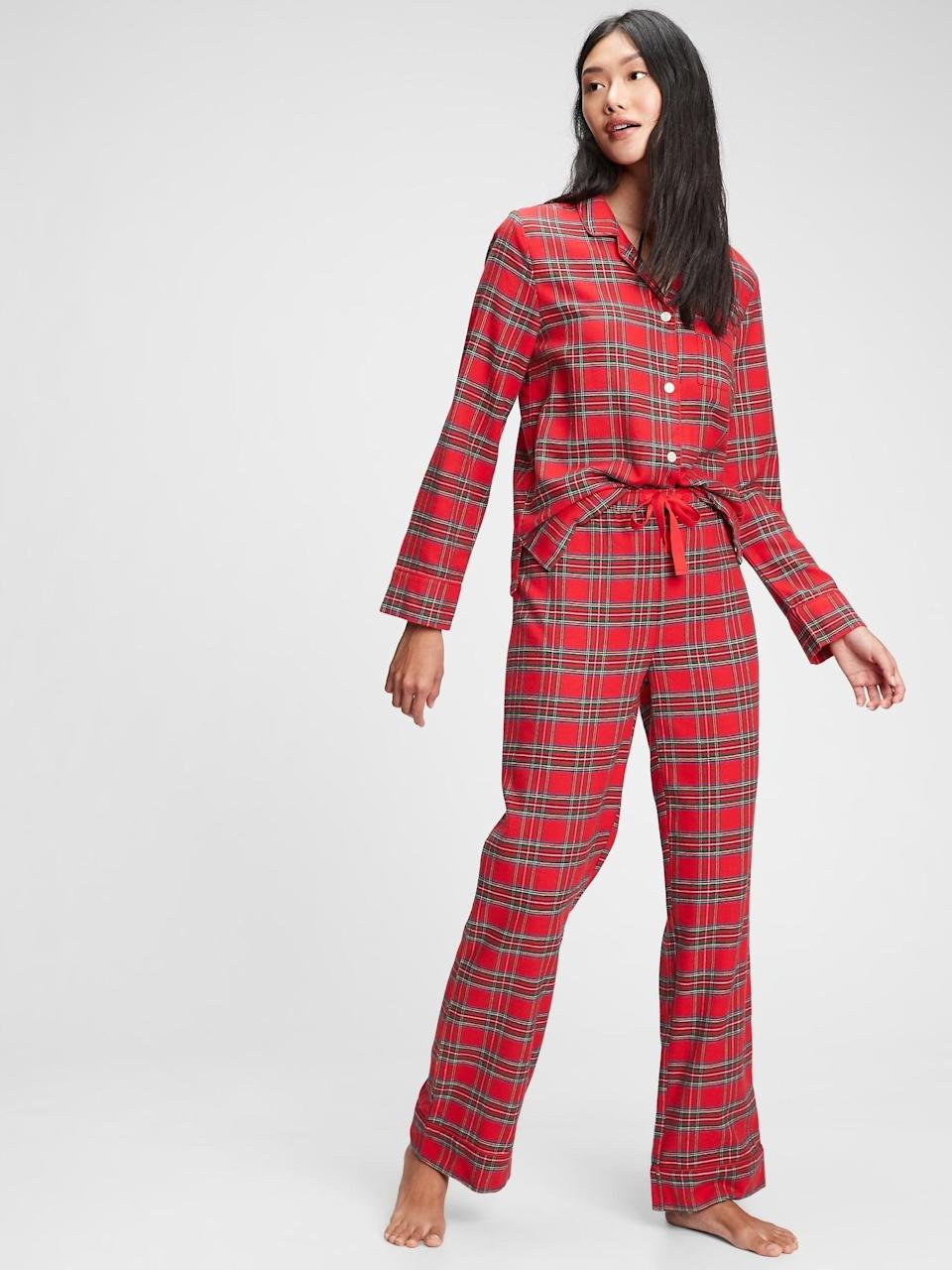 <p>Do you have Christmas morning PJs yet? This <span>Gap Flannel PJ Set</span> ($34, originally $70) is a must!</p>