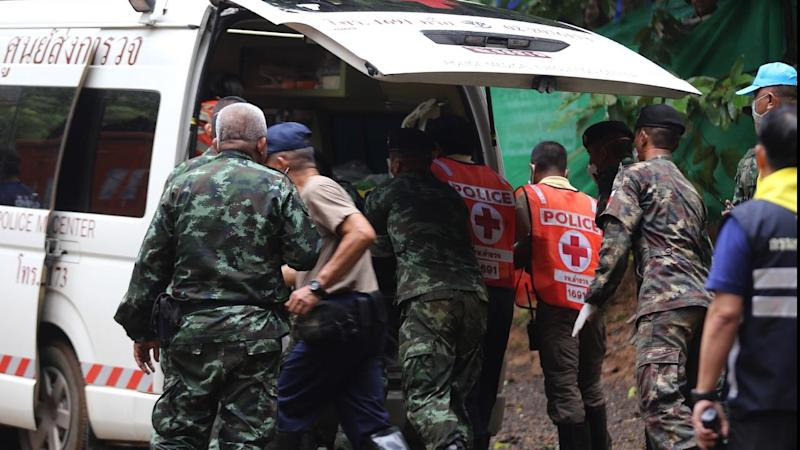 Four boys and their coach remain in the Thai cave with authorities planning the next day's rescue
