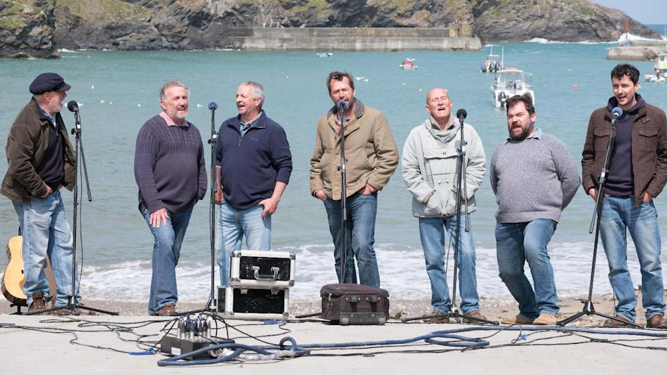 The underdog story of a group of Cornish fishermen angling for a musical career is at the centre of Fisherman's Friends. (Credit: Entertainment Film Distributors)