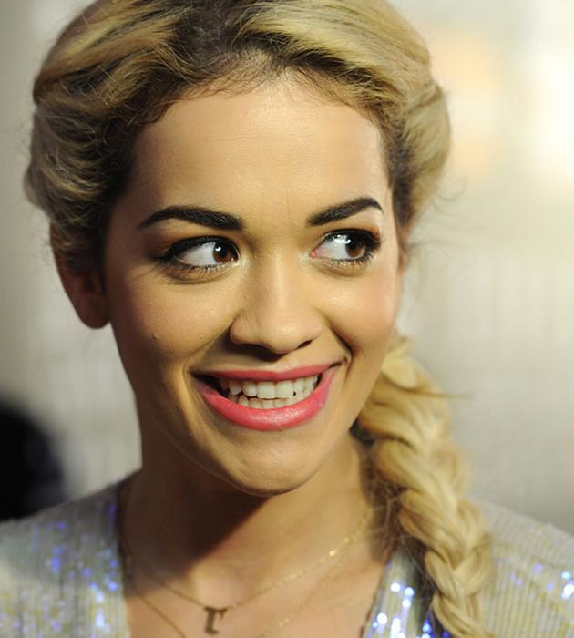 <b>Celebrities in plaits: Rita Ora<br><br>Rita Ora's</b> fishtail braid wrapped round her head and gave her a funky twist to her glam DVF gown.<br><br>© Rex