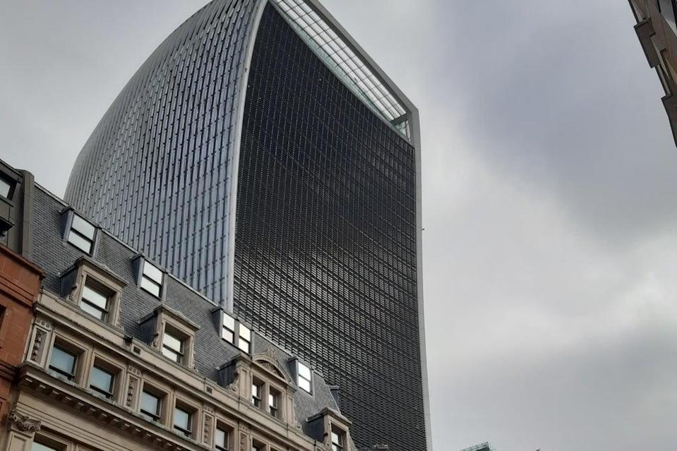 The new court is near the 'walkie talkie'