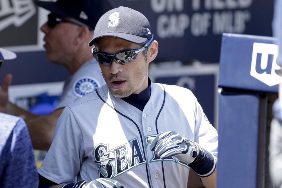 Ichiro Suzuki isn't retired. He's fully expected to be on the Mariners opening day roster in Japan. (AP)
