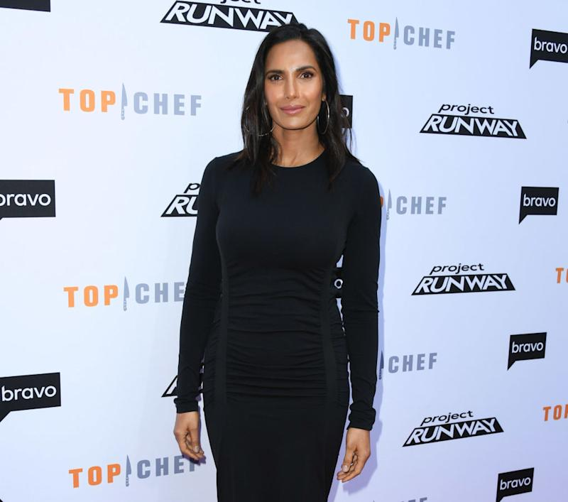 """Padma Lakshmi attends a """"Top Chef"""" event at Vibiana on April 16 in Los Angeles."""