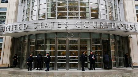 """Police guard the courthouse of United States District Court for the Eastern District of New York where Joaquin """"El Chapo"""" Guzman was brought in Brooklyn, New York, U.S., November 5, 2018. REUTERS/Eduardo Munoz/File Photo"""