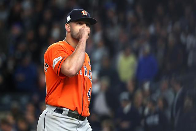 Lance McCullers Jr. gave the Astros a great outing in Game 4 of the ALCS. (Getty Images)