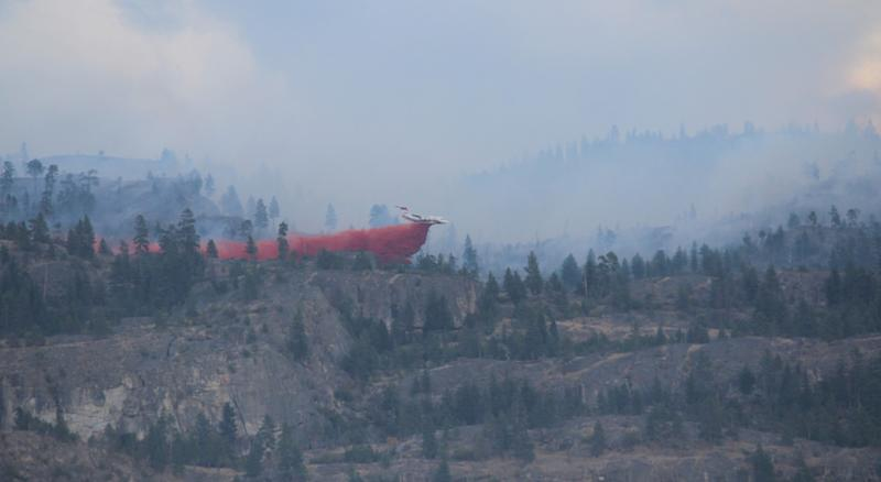 Progress made in keeping the Christie Mountain blaze in B.C. from spreading