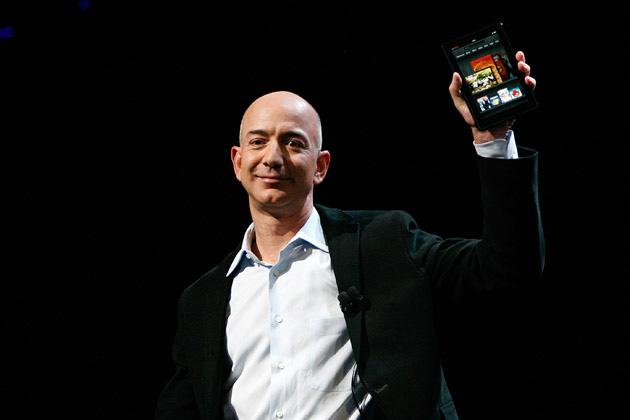 Jeff Bezos, CEO, Amazon.com  Bezos, who parlayed a retail book operation into the online juggernaut Amazon (AMZN), worked as a cook in a Miami McDonald's during the summer of 1980, while he was in high school. He later attended Princeton University and founded the online merchant in 1994.