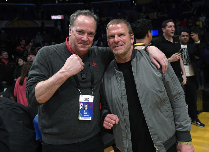 Rockets CEO Tad Brown and team owner Tilman Fertitta
