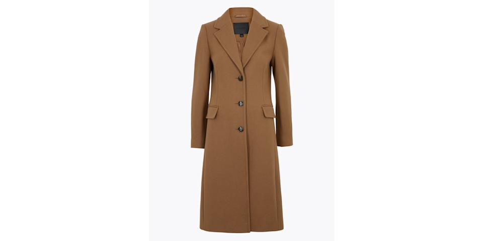 best winter coats: M&S Autograph Wool Tailored Coat with Cashmere