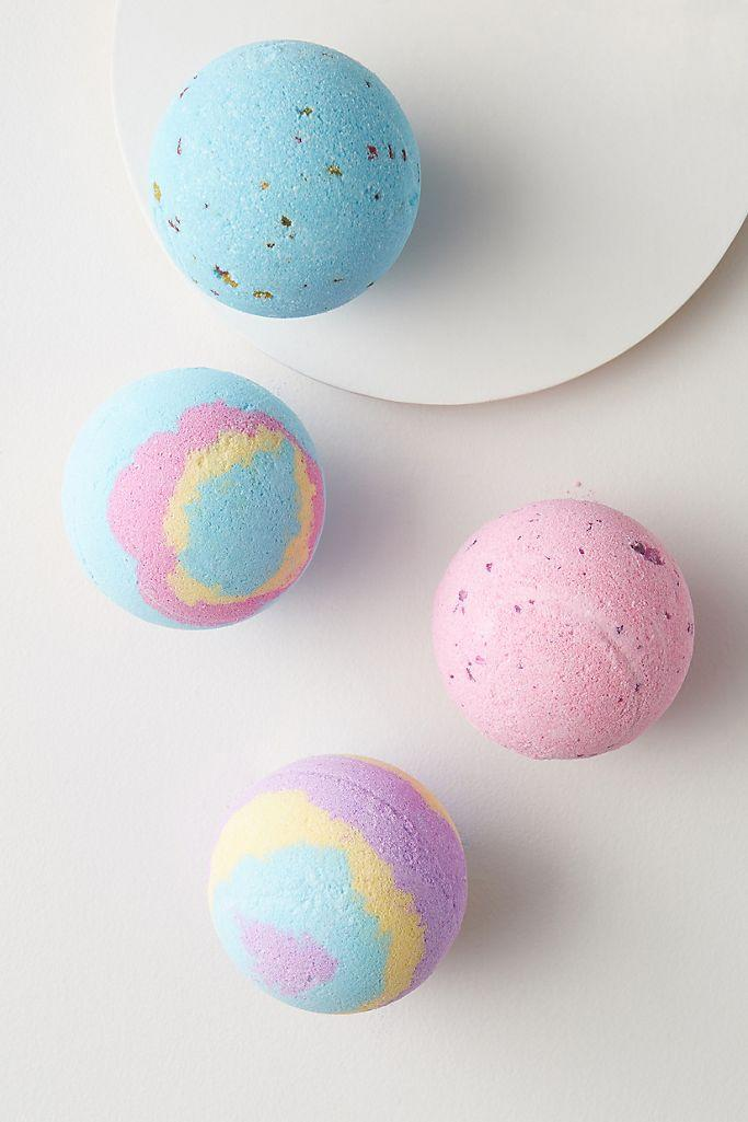 "<h2><a href=""https://fave.co/3cVFzQ5"" rel=""nofollow noopener"" target=""_blank"" data-ylk=""slk:Galaxy Bath Bomb"" class=""link rapid-noclick-resp"">Galaxy Bath Bomb</a></h2> <br><strong>Best For: Nourishing Baths <br>Price: $10<br></strong><br>Bathtime connoisseurs, prepare yourselves: the ultimate colorful bath bombs exist and they are not only nice to look at but hydrating and soothing, too. <br><br><strong>Nailmatic</strong> Nailmatic Galaxy Bath Bomb, $, available at <a href=""https://go.skimresources.com/?id=30283X879131&url=https%3A%2F%2Fwww.anthropologie.com%2Fshop%2Fnailmatic-galaxy-bath-bomb%3F"" rel=""nofollow noopener"" target=""_blank"" data-ylk=""slk:Anthropologie"" class=""link rapid-noclick-resp"">Anthropologie</a><br><br>"