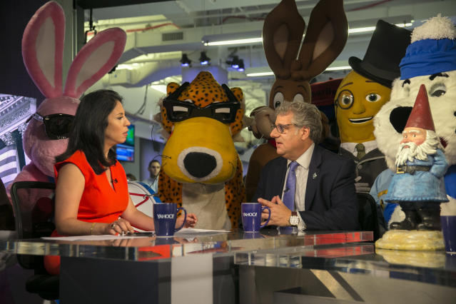"<p>Advertising Week's Matt Scheckner appears on Yahoo Finance's ""€œMidday Movers"" for Advertising Week with Yahoo Finance Anchor and Reporter Alexis Christoforous at Yahoo Studios in New York City on Sept. 25, 2017. (Photo: Gordon Donovan/Yahoo News) </p>"