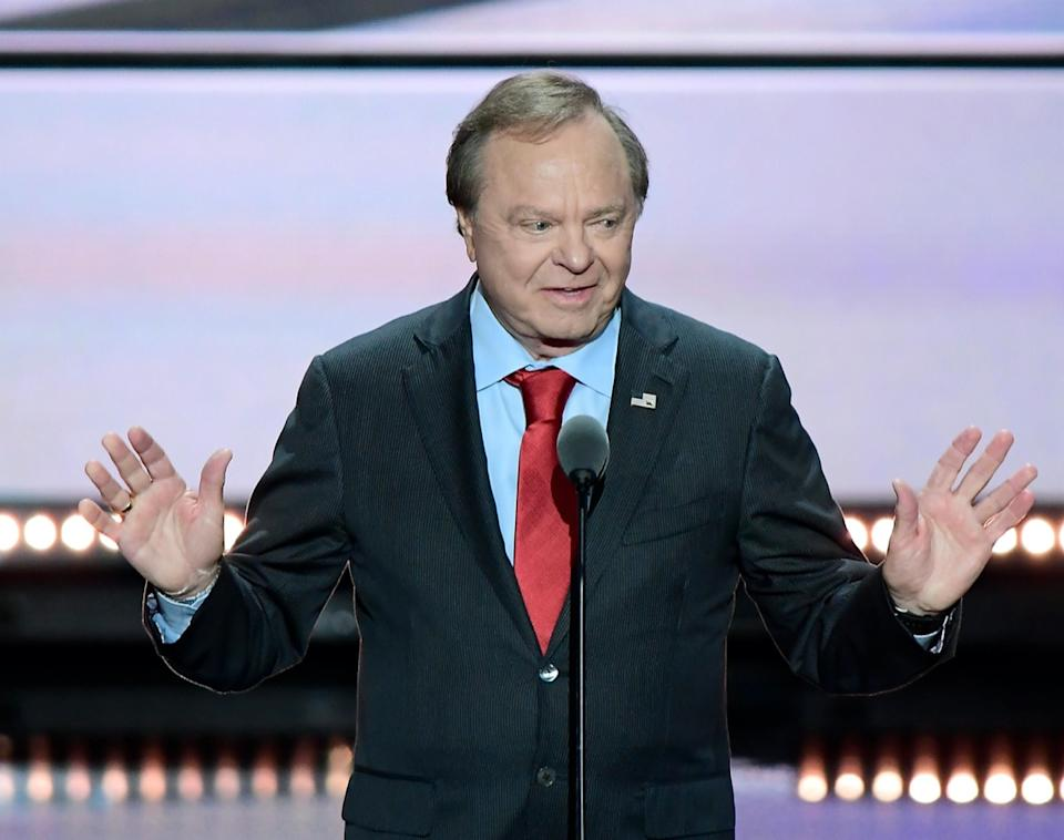 Harold Hamm, CEO, Continental Resources, makes remarks at the 2016 Republican National Convention held at the Quicken Loans Arena in Cleveland, Ohio on Wednesday, July 20, 2016.