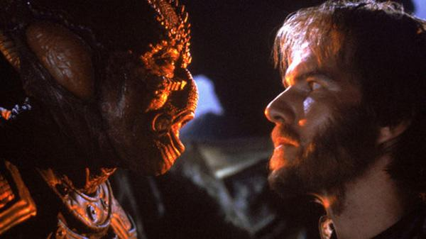 """Enemy Mine"" — Essentially ""Hell in the Pacific"" in space, ""Enemy Mine"" is a science fiction film about two starfighter pilots — human Davidge (Dennis Quaid) and alien Jeriba (Louis Gossett, Jr.) — who shoot each other down over an uncharted planet. Despite lingering animosity between the pilots, whose two races are fighting a brutal interstellar war, Davidge and Jeriba learn to trust one another in order to survive the hostile planet. Things get a little weird when Jeriba — whose species reproduces asexually — gives birth to a child and dies, forcing Davidge to raise the young alien as his own."